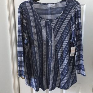 Kim Rogers striped top.